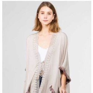 Sweaters - 🔥FASHION STYLISH SOLID TAN KIMONO WITH TASSELS